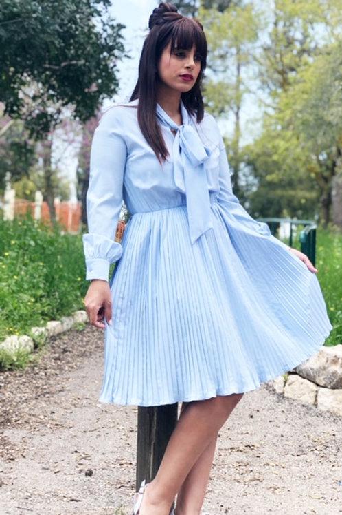 Blue Bow Dress -קבלי 100 ש״ח הנחה