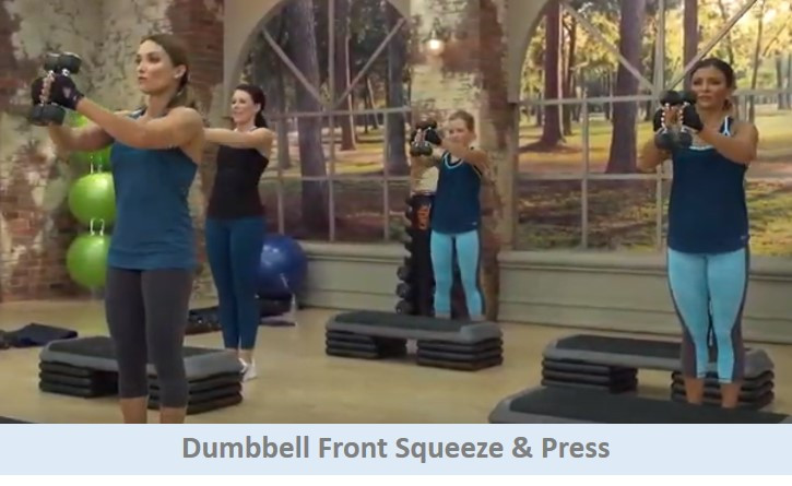 Dumbbell Front Squeeze & Press