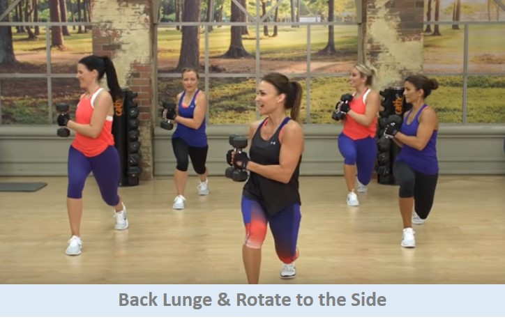 Back lunge & rotate to the side
