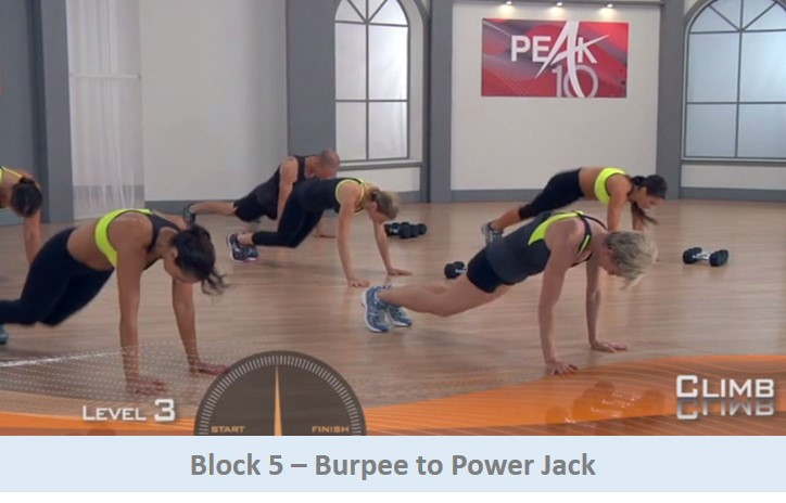 Burpee to power jack