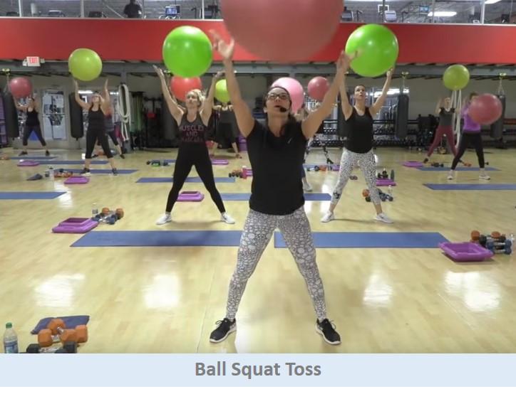 Ball Squat Toss