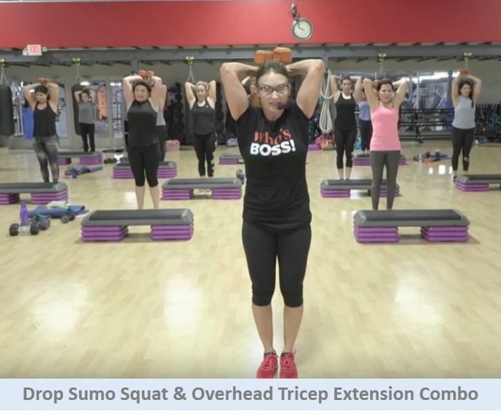 Squat & tricep extension