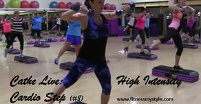 Cathe Live Review: High Intensity Cardio Step (#8)