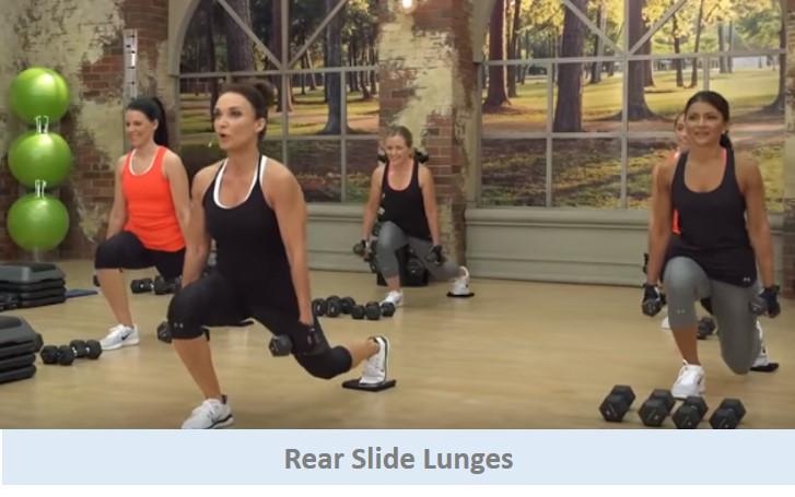 Rear Slide Lunges