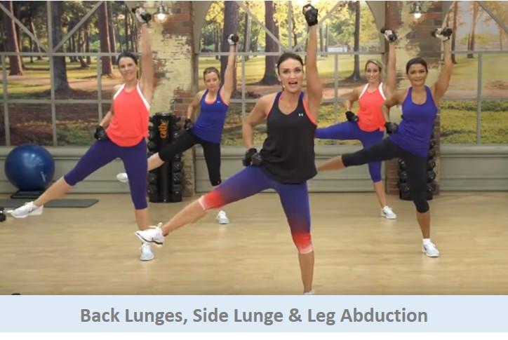 Back lunges, Side Lunge & Leg Abduction