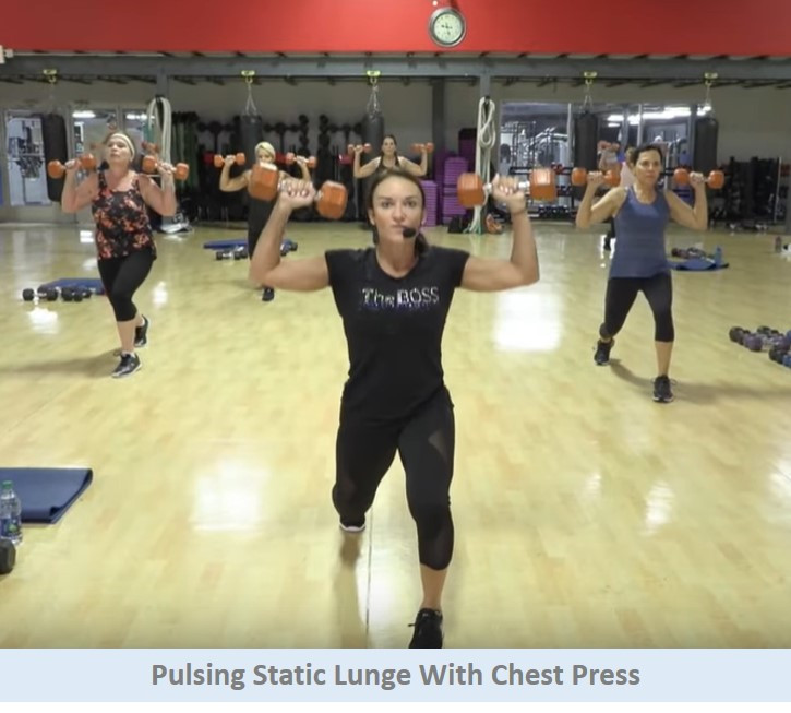 Static lunge & chest press