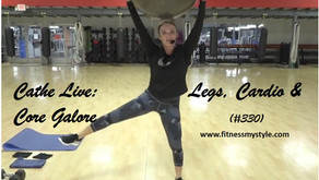 Cathe Live Review: Legs, Cardio & Core Galore (#330)
