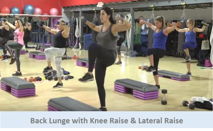 Back Lunge with Knee Raise & Lateral Raise