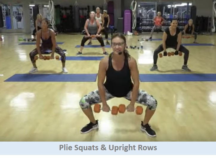 Plie squats & upright rows