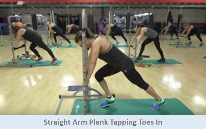Straight Arm Plank Tapping Toes In