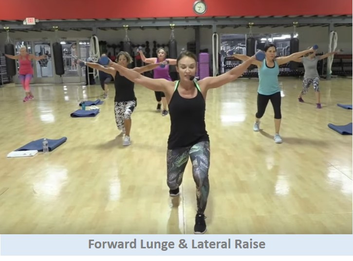 Forward Lunge & Lateral Raise
