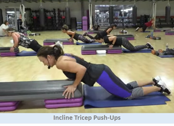 Incline tricep pushups