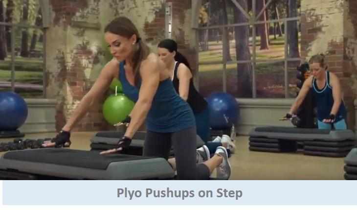 Plyo pushups on step