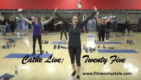 Cathe Live: Twenty Five - A Fun Feel-Good Workout That's Packed With Variety!