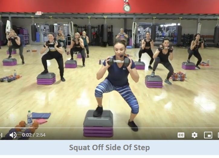 Squat off side of step
