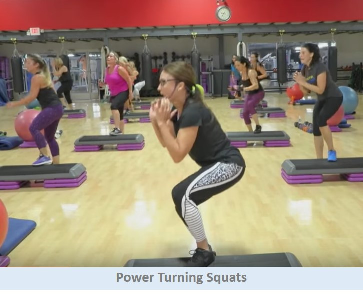 Power turning squats