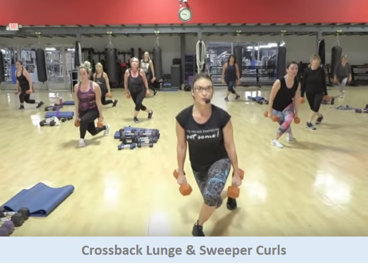 Crossback lunge & Sweeper curls