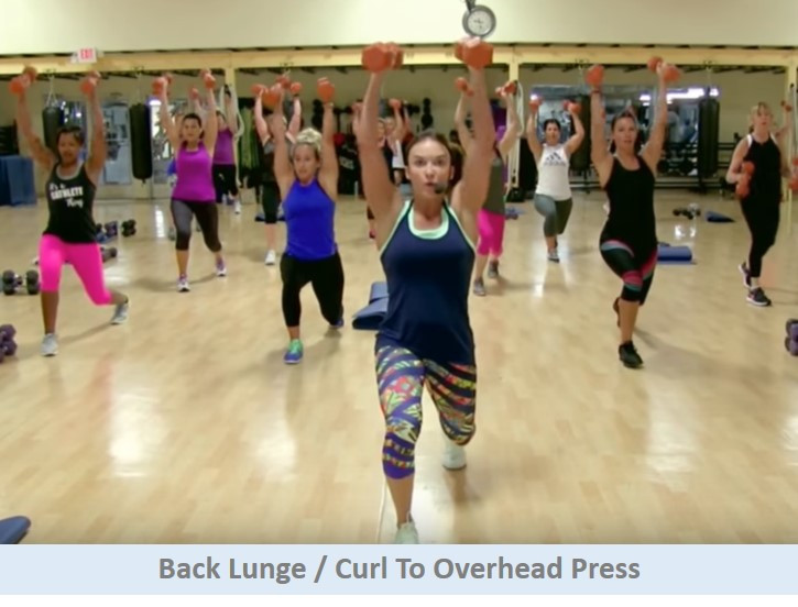 Back Lunge To Overhead Press