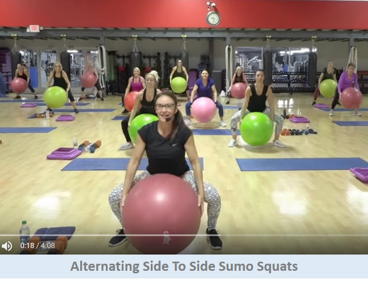 Side to side sumo squats
