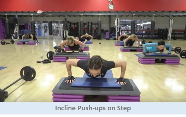 Incline pushups