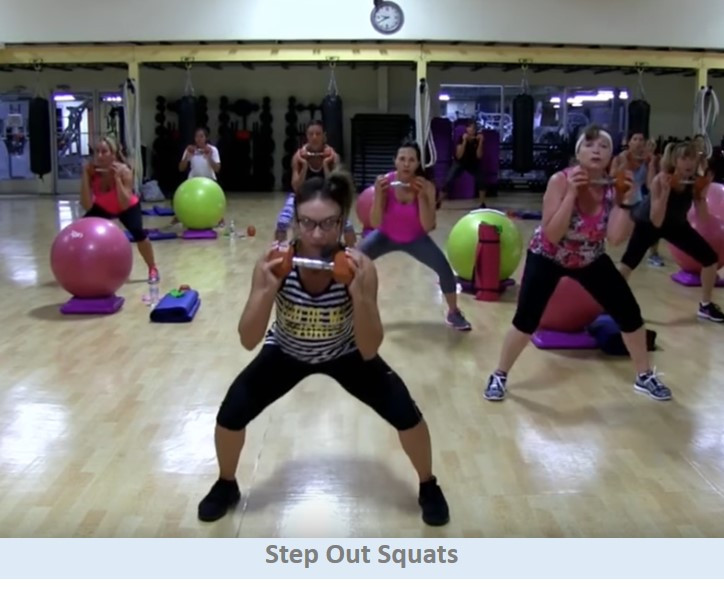 Step Out Squats