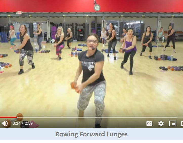Rowing forward lunges