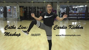 Cathe Live Review: Cardio Kickbox Mashup (#337)