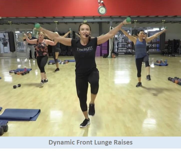 Dynamic Front Lunge Raises