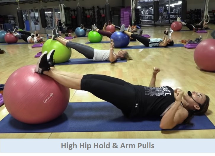 High hip holds & arm pulls