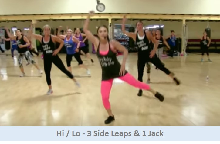 Hi Lo - 3 Side Leaps & 1 Jack