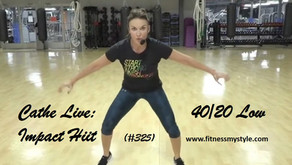 Cathe Live Review: 40/20 Low Impact Hiit (#325)