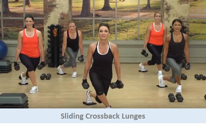 Sliding Crossback Lunges