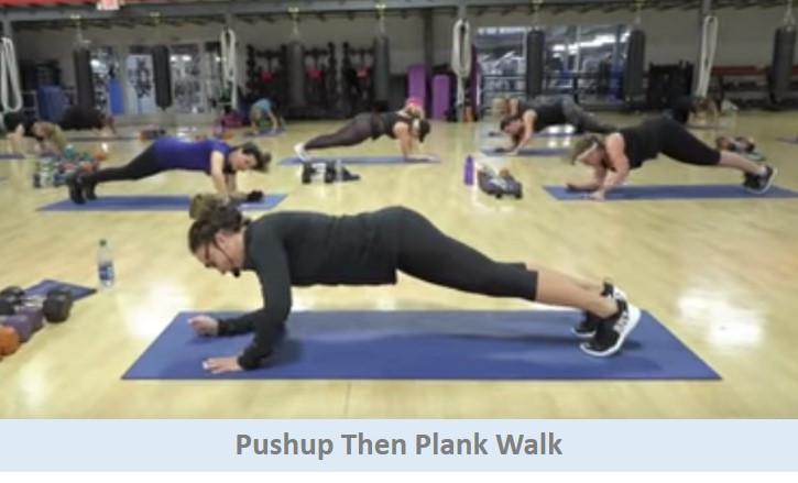 Pushup Then Plank Walk