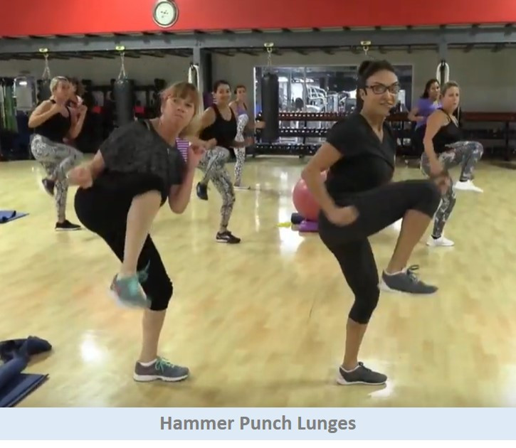 hammer punch lunges