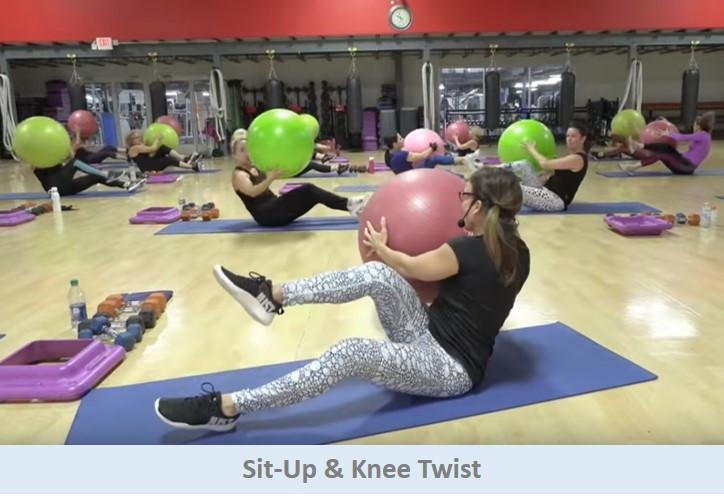 Sit-Up Knee Twist