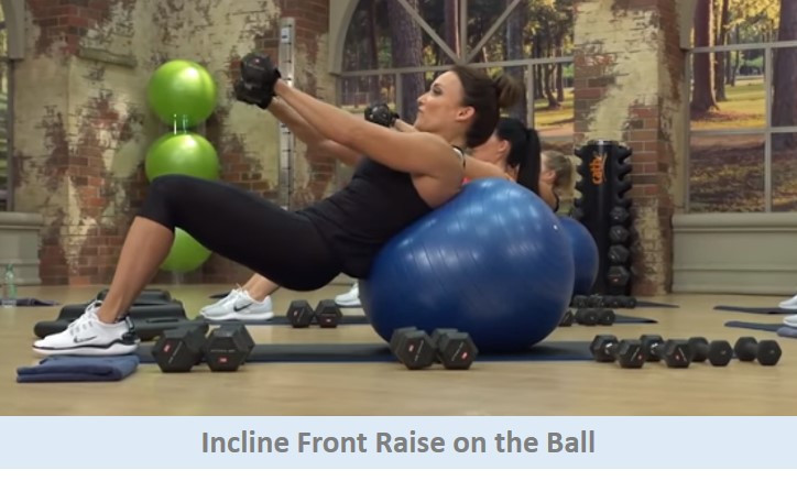 Incline Front Raise on the Ball