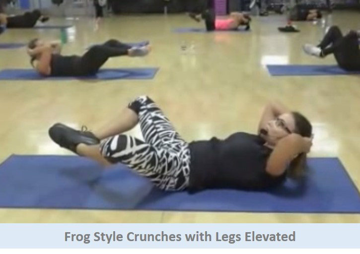 Frog Style Crunches