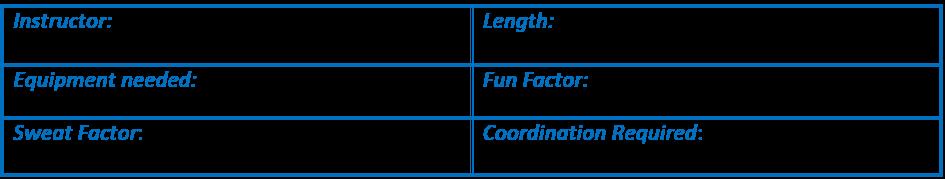 Instructor: Cathe Friedrich. Length: 40 mins. Equipment: 3-8# dbs & a mat. Fun factor: 4/5. Sweat factor: 3/5. Coordination:3/5
