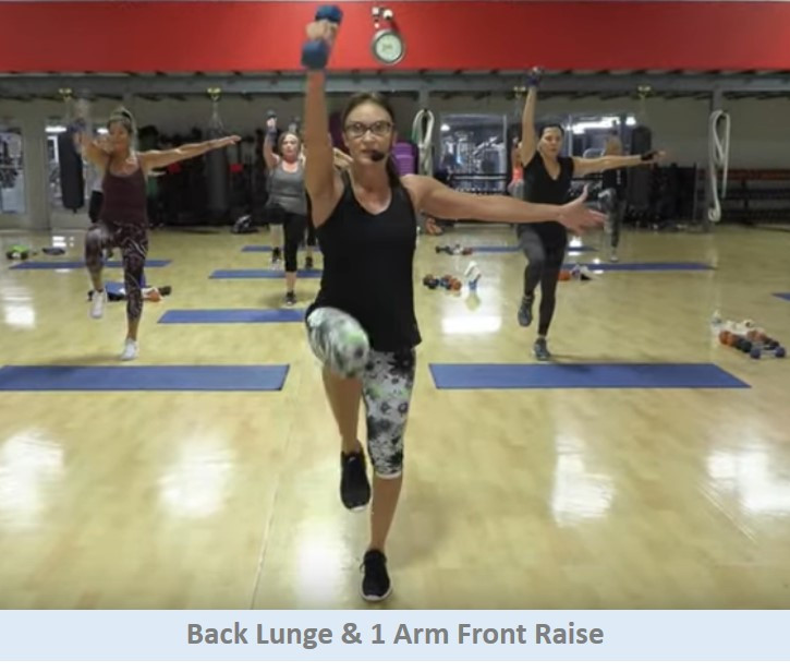 Back Lunge & 1 Arm Front Raise