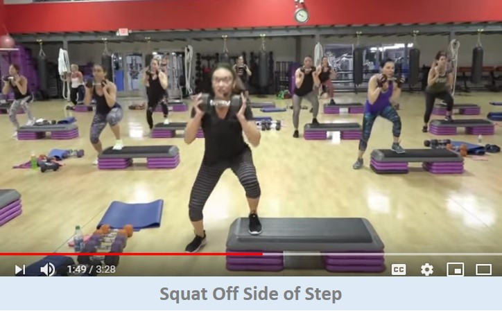 Squat Off Side Of Step