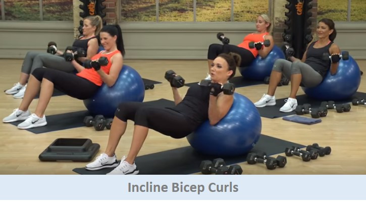 Incline Bicep Curls