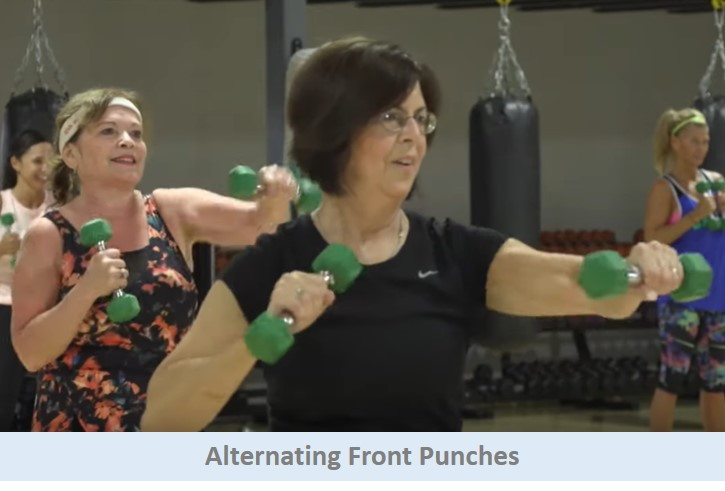 Alternating front punches