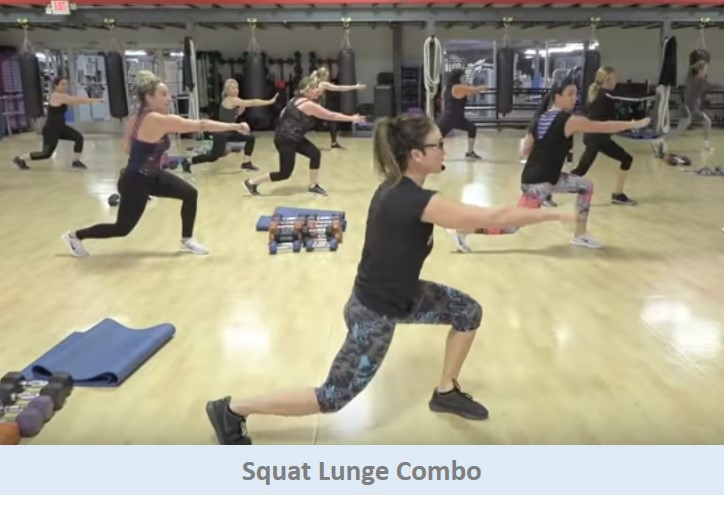 Squat Lunge Combo