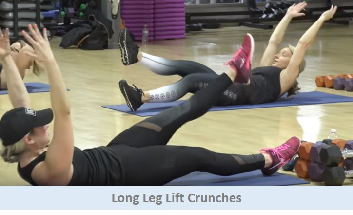 Long Leg Lift Crunches