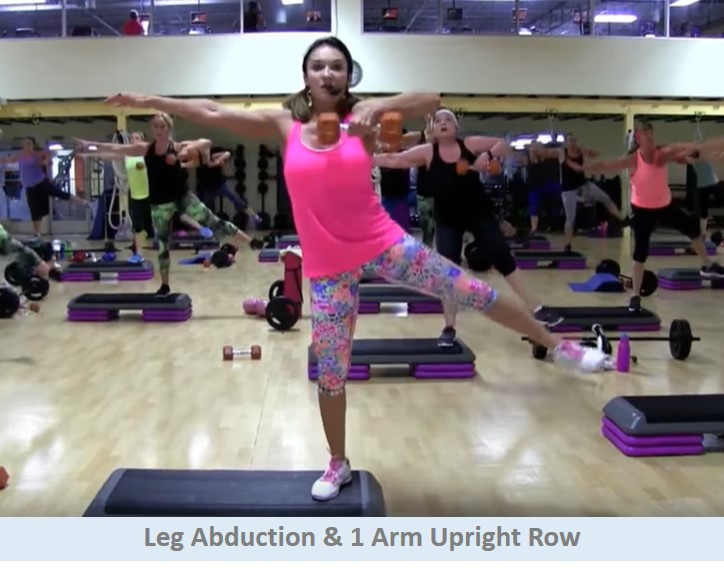 Leg Abduction & 1 Arm Upright Row