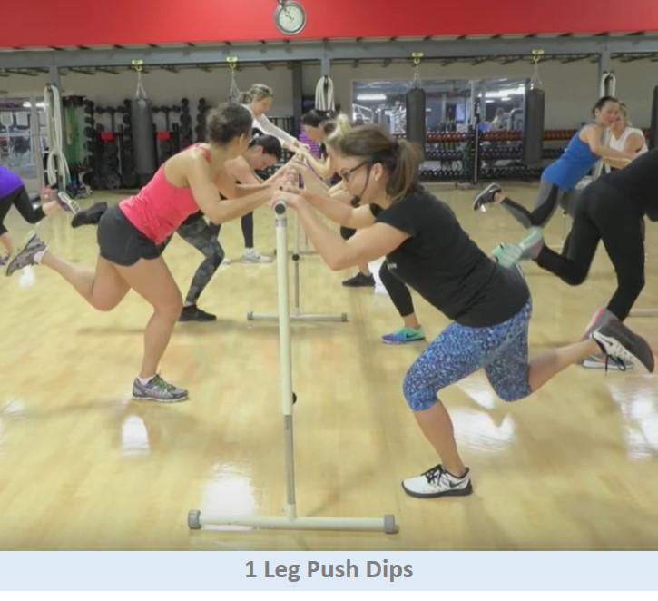 1 Leg Push Dips