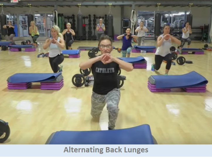 Alternating Back Lunges