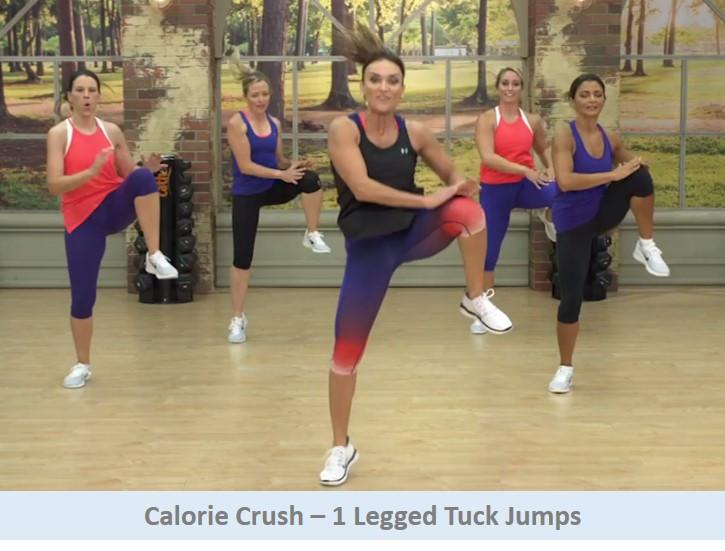 Calorie Crush - 1 Legged Tuck Jumps