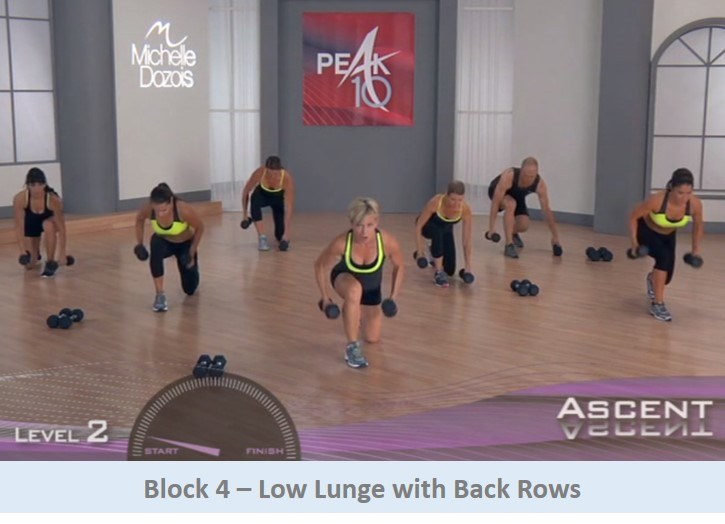 Low lunge with back rows