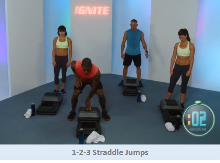 1-2-3 Straddle Jumps